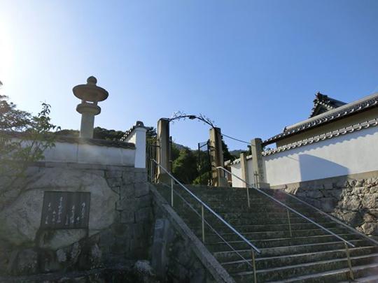 淡路島・妙勝寺の入り口